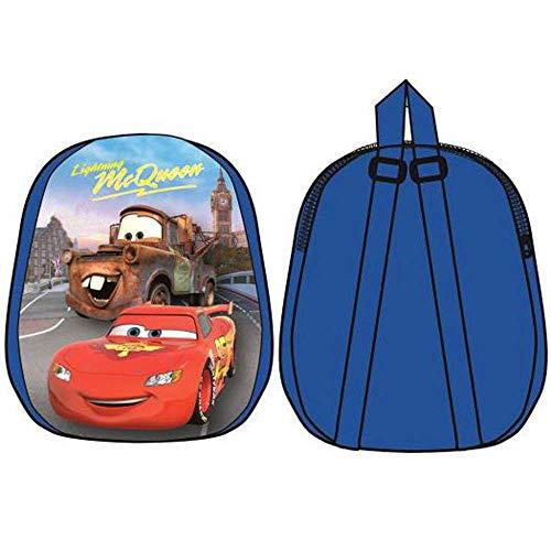 Mini mochila escolar y tiempo libre para niños con personajes Cars de 31 cm  licencia