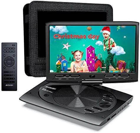MYDASH Portable DVD Player 12 5 for Car Kids DVD Player with 10 1 HD Swivel Display Screen SD product image