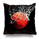 Love Sports Funda de Almohada con Cremallera de Baloncesto Americano, Funda de Almohada Decorativa Cuadrada Fundas de cojín de Estilo Moderno (Impresión a Dos Lados)