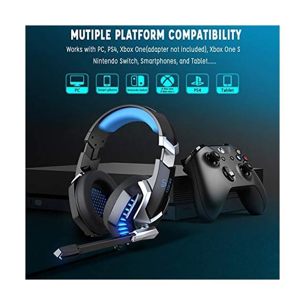 51FJVIIpc4L. SS600  - iporachx Headset PC, Gaming Headset mit Mikrofon, Kopfhörer für PS4 PC Xbox One Switch, Headset für Laptop/Mac