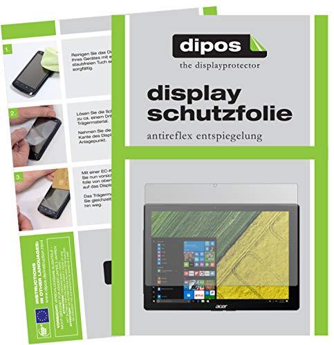 dipos I Schutzfolie matt kompatibel mit Acer Switch 5 Pro SW512-52P Folie Bildschirmschutzfolie