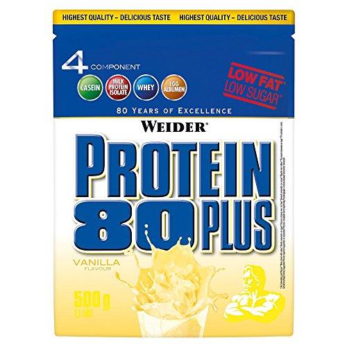 Weider Protein 80 plus 2 x 500g Beutel 2er Pack Vanille