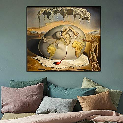 YuanMinglu Copie la Pintura Decorativa de la Sala de Estar Surrealista clásica Pintura sin Marco en el Lienzo 60x75cm