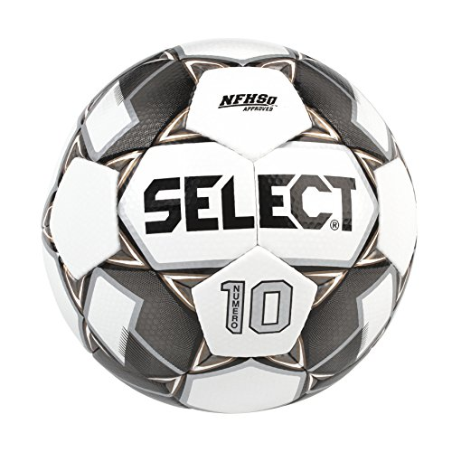 Select Numero 10 Soccer Ball, White/Black/Gold, Size 5