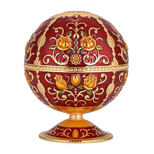 KUIDAMOS Cenicero Proceso de galvanoplastia Cenicero de Bola Redonda Hermosa decoración para Star Hotel(Red Rose)