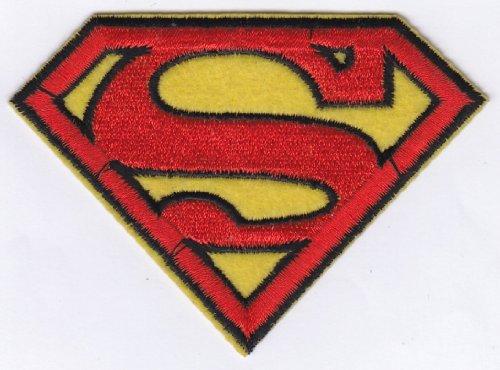 PatchWOW Écusson brodé à thermocoller ou à coudre Motif Superman S