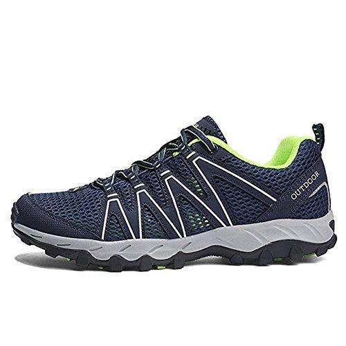 Zapatillas Senderismo Hombre Mujer Zapatillas Trekking Mesh Transpirable Sneakers Casual Zapatillas de Deporte Verde 39