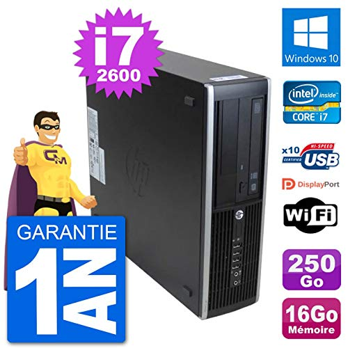 HP PC 8300 Elite SFF Intel i7-2600 RAM 16 GB Festplatte 250 GB Windows 10 WiFi (überholt)