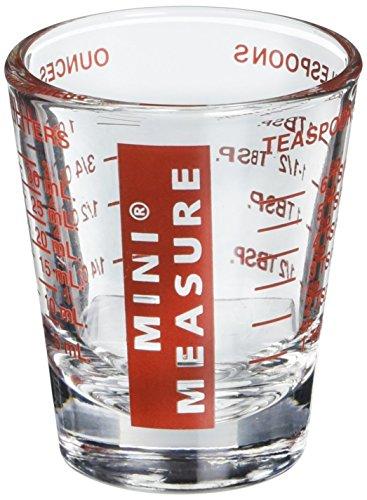The Original Mini verre à liqueur 20 mesures graduées Rouge