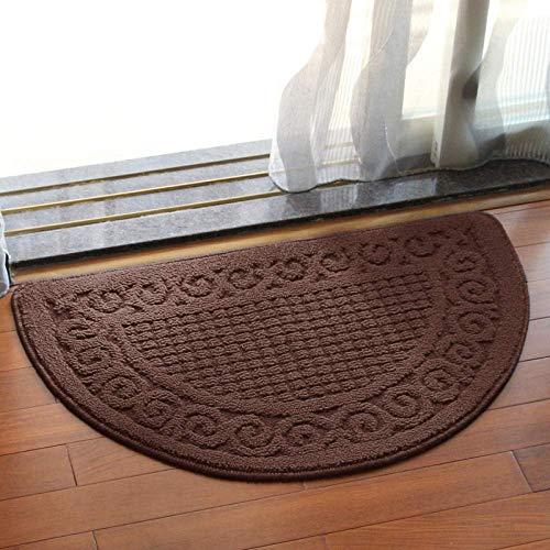 Fulinmen Tapetes, alfombras de Tierra, Color Llano, semicirculares, vestíbulo de Entrada, Alfombra, baño, Cocina, estera-48 de vacío * 78cm (Color : R, Size : 40 * 63cm)