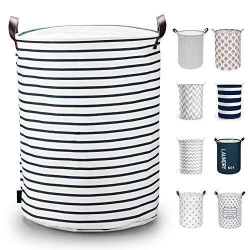 Caroeas 195Inches Thicken XLarge Laundry Basket Waterproof Large Laundry Basket Drawstring Closure Collapsible Laundry Basket with Handles Laundry Hamper Easy Storage Clothes Hamper