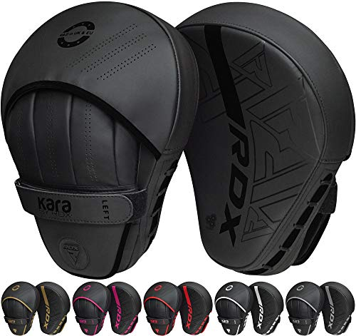 RDX Boxing Pads Curved Focus Mitts, Maya Hide Leather Kara Hook and...