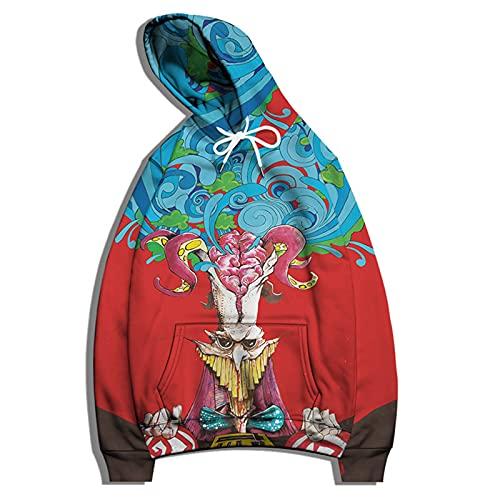 SSBZYES Felpa da Uomo T-Shirt a Maniche Lunghe Felpa con Cappuccio Maglione di Grandi Dimensioni T-Shirt retrò Maglione Stampato Maglione da Coppia Giacca con Cappuccio