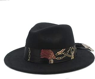 Hat Winter Wool Hat For Men Women Church Jazz Hat Wide Brim Cloche Hat Fashion Hat
