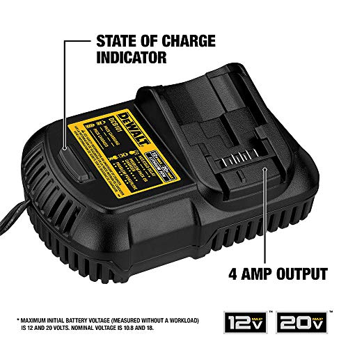 DEWALT 20V MAX Battery and Charger Kit with Bag, 5.0Ah (DCB205CK)