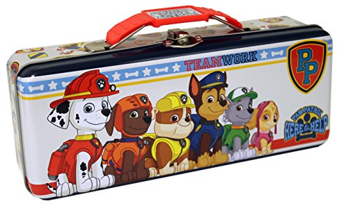 The Tin Box Company Paw Patrol Pencil Box, Multicolor, Standard