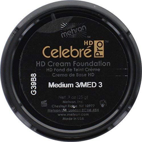Mehron Makeup Celebre Pro-HD Cream Face & Body Makeup (.9 oz) (MEDUIM 3)