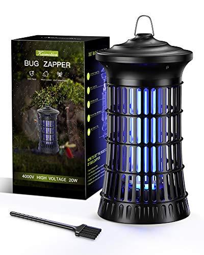 Kasmotion Lampada Antizanzare Elettrica,20W UV Zanzariera Elettrica Contro Insetti Zanzare, Mosca, Falene, per Uso Giardino Interno Esterno