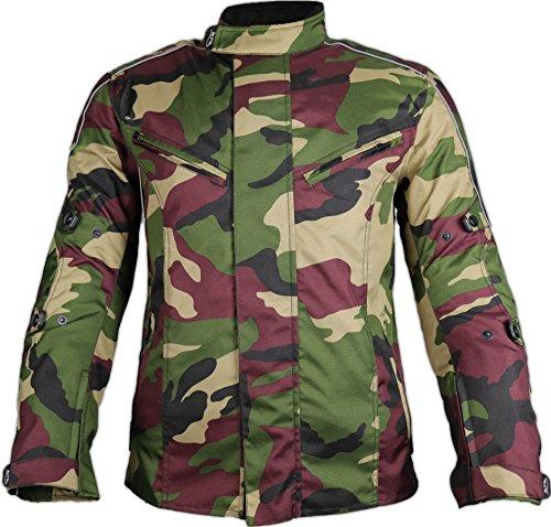 MDM Motorradjacke für Herren in schönen Camouflage Farben (4XL, Camo Grün)