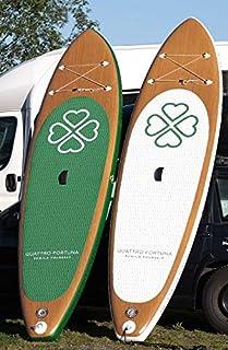 'Quattro Fortuna Stand Up Paddle Board Sup 10' 8Inflatable Sup Surf madera blanco o negro imitación de madera
