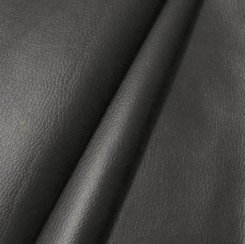 STOFFKONTOR Polster PVC Kunstleder, Polsterstoff in Rindsleder Optik, Möbelstoff Meterware - Anthrazit - für sämtliche Polsterarbeiten, Autos, Boote, Dekorationen