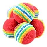 Runfon - Set di 10 palline giocattolo colorate, in schiuma, per gatti e cagnolini