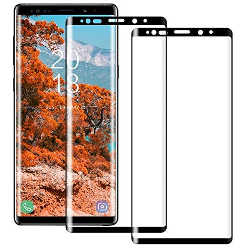 BOBI Protector de Pantalla Vidrio Templado para Samsung Galaxy Note 8, Sin Burbujas, Resistente a Arañazos, Anti-Aceite [2 Piezas]
