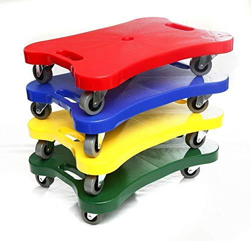 4er Set Super-Rollbrett für Kinder in 4 Farben (rot, gelb, grün, blau) - Scooter Board