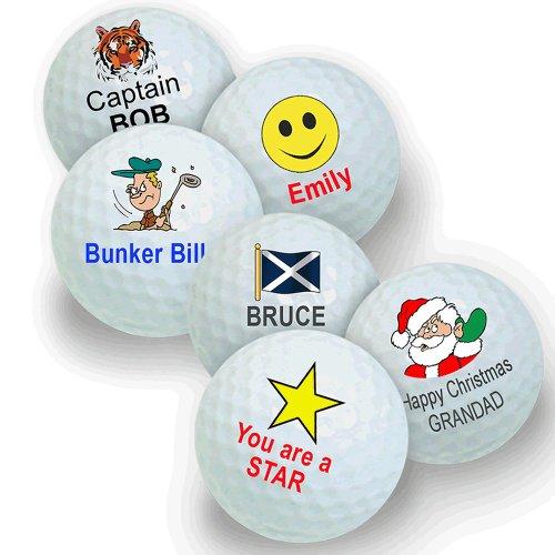 Juego de bolas de golf (3 unidades, personalizadas con el nombre y diseño que elijas)