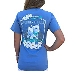 Southern Attitude Baby Goat Carolina Blue Short Sleeve Shirt