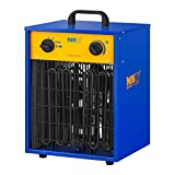 MSW Chauffage À Air Pulsé Électrique Aérotherme Radiateur MSW-CHEH-9000 (9000 W, 3 Niveaux De Puissance, 0-85°C, 787 m3/h)