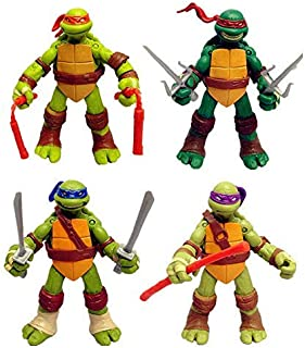 Unbranded 4 PC Set USA Teenage Mutant Ninja Turtles Classic Collection TMNT Action Figures by CleanSkyGroup Amazon Seller