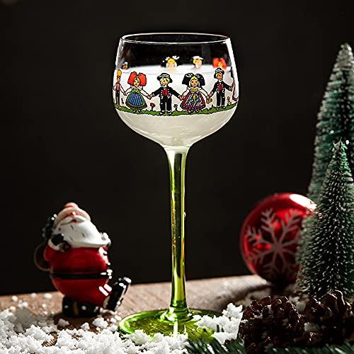 Copa de vino tinto de Alsace pintado a mano, copas de vino...