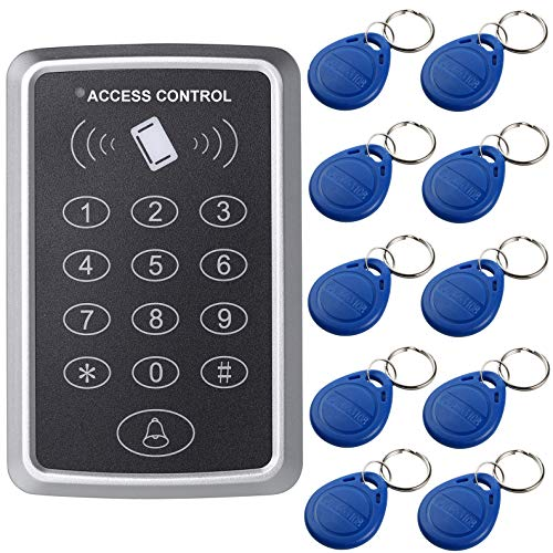 UHPPOTE 125KHz Single Door Proximity RFID Card Access Control Keypad with 10pcs Keyfobs