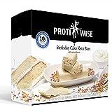 ProtiWise - High Protein Keto Diet Bars | Nutrition Snack Bar | Low Net Carb - Low Sugar - High Fiber - 7/Box (Birthday Cake)