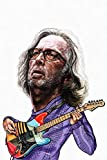 WOAIC Eric Clapton Caricature Poster for Bar Cafe Home