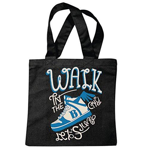 sac à bandoulière WALK IN THE FASHION SHOES CITY LIFESTYLE STREETWEAR HIPHOP SALSA LEGENDARY Sac école Turnbeutel en noir