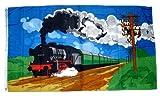 Fahne / Flagge Dampflok Zug Eisenbahn NEU 90 x 150 cm