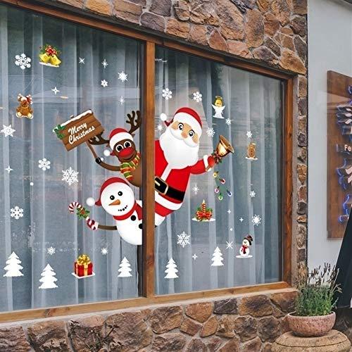 Suzanne Billy Navidad etiquetas for la ventana de dibujos animados vitrinas extraíble de Santa muñeco de nieve de la decoración del hogar de la etiqueta adhesiva de PVC Año Nuevo Mural de cristal
