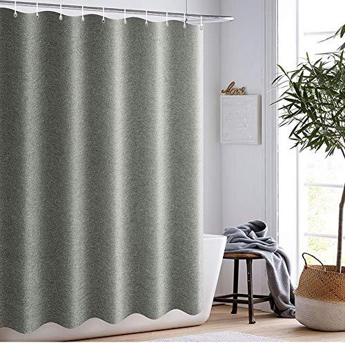CICIN Leinen Duschvorhang, wasserdicht Mehltau Extra Lange waschbar Bad Vorhang für Hotel, Bad, Familie mit Haken,100 * 180CM