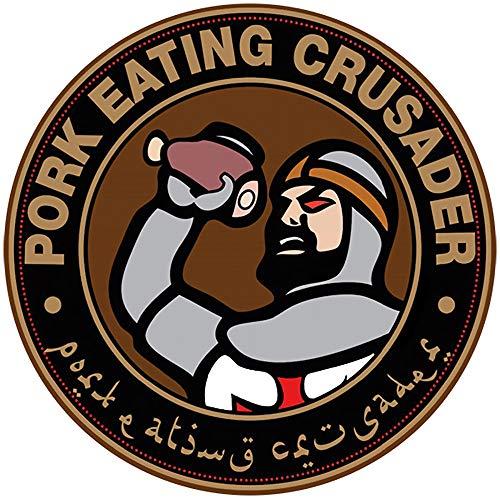 Aufkleber / Sticker - Pork Eating Crusader (Sticker-Set, 10 Stück), Islamisten, Kreuzritter, Kreuzzüge, Infidel