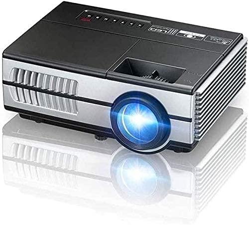 N\C ZSCC Mini proyector, Pantalla máxima de 1080p Compatible con 200 Pulgadas, Compatible con HDMI, VGA, USB, para Juegos, películas, Ultra silencioso de Larga duración de 30.000 Horas de Vida útil