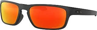 Oakley Men's Sliver Stealth Asian Fit Sunglasses,OS,Matte Black/Prizm Ruby
