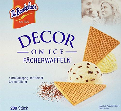 DeBeukelaer Decor On Ice Fächer-Waffeln lose, 200 Stück, 2er Pack (2 x 500 g)