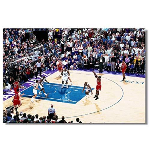 Póster de estrellas de baloncesto de Michael Jordan, cuadro artístico de pared, pintura en lienzo, carteles e impresiones, sala de estar, impresión del hogar, pintura decorativa-60x90CM sin marco