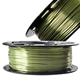 DO3D Silk Bronze PLA Filament Metallic Shiny 3D Printing Material, 1.75mm Diameter 1kg Spool 2.2lbs, Widely Fit for FDM 3D Printers with One Bag Filament Sample Gift