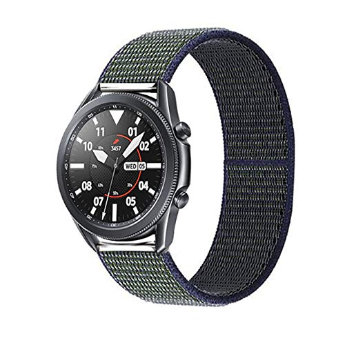 HGGFA 20 22mm Watch Band for Gear S3 Frontier Strap Galaxy Watch 3 45mm 41mm 46 Active 2 44mm 40mm Nylon para Huawei Watch GT2E / 2 Strap 42 (Band Color : Midnight Fog 18, Band Width : 22mm)