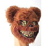 Shenme Máscara de plástico Oso Máscara de Terror Prom Funcionamiento apoya Media mascarilla Máscaras de Halloween for Adultos y niños