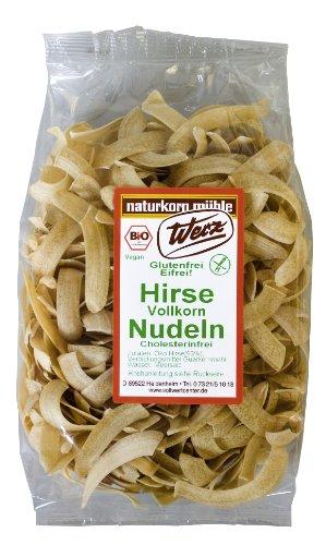 Werz Hirse-Vollkorn-Nudeln glutenfrei, 2er Pack (2 x 200 g Packung) - Bio