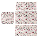 For Nintendo Switch series sticker protection box,Flamingos in Vintage Style Illustration Love And Romantic Animals Artwork switch cover sticker protection cover (compatible with Switch)
